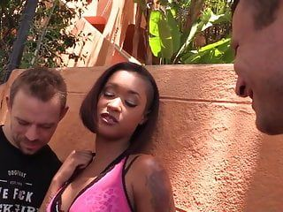 Miniature afro cutie skin diamond acquires her vagina and gazoo drilled